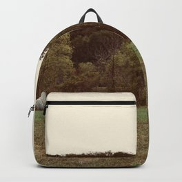 Three Lonely Haybales Backpack