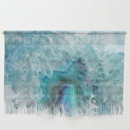 Blue Aqua Agate Wall Hanging