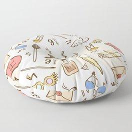 Wizarding Pattern Floor Pillow