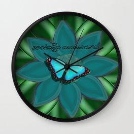 Socially Awkward Butterfly Wall Clock