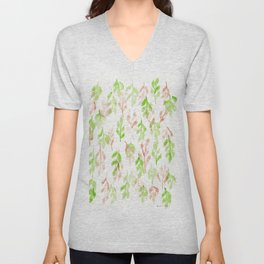 180726 Abstract Leaves Botanical 26 |Botanical Illustrations Unisex V-Neck