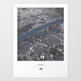 Vienna City Map Art Print