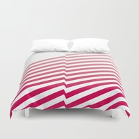 bands Duvet Covers featuring Red Bands by blacknote