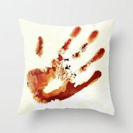 Castiel's handprint Throw Pillow