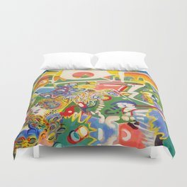 Who Does Your Love Serve? Duvet Cover