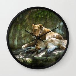 Portland Lioness Wall Clock