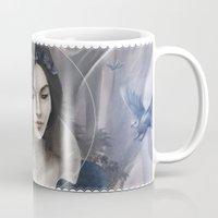 snow white Mugs featuring Snow White by Nicolas Jamonneau