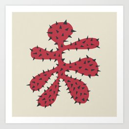 Matisse Inspired Red Shape Art Print