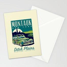 Montauk Ditch Plains Surfer's Paradise Retro Stationery Cards
