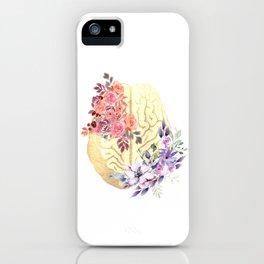Floral Brain Anatomy  iPhone Case