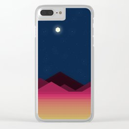 Desert Night (Voxel) Clear iPhone Case
