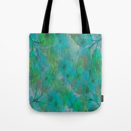 Painterly Summer Morning Floral Abstract Tote Bag
