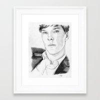 benedict Framed Art Prints featuring Benedict Cumberbatch by Alessia Pelonzi