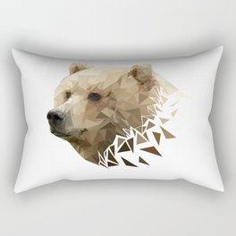 Low Poly Bear--White Rectangular Pillow