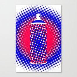 Spray Can Dots Patriotic Canvas Print