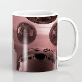 esferas en el plano rojo Coffee Mug