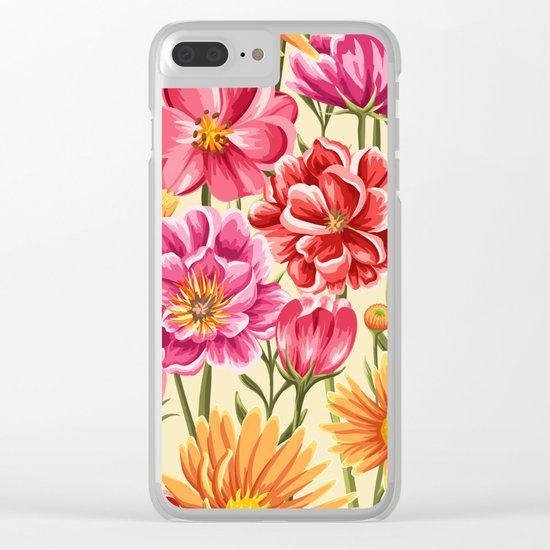Flower Power vol.2 Clear iPhone Case