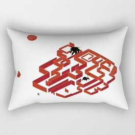 You Do Not Enter the Maze, the Maze Enters You Rectangular Pillow