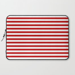 Red and White Stripes Laptop Sleeve