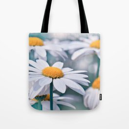 Marguerite blue 032 Tote Bag