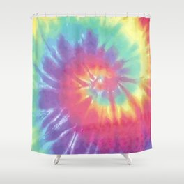 Faded Spiral Tie Dye Shower Curtain