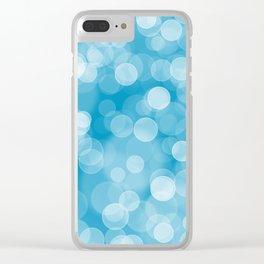 Blue Bokeh Clear iPhone Case