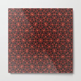 Blood Mandala Metal Print
