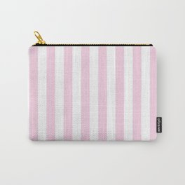 Pastel pink white modern geometric stripes Carry-All Pouch