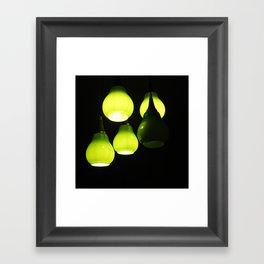 Green Lamps Framed Art Print
