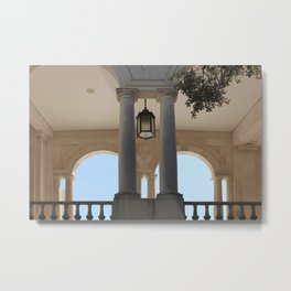 Looking into the archways of Fatima's Sanctuary Metal Print
