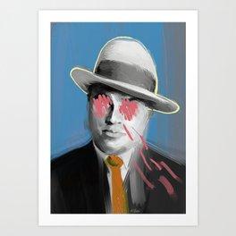 Gangster Capone POP art style, digital painting Art Print