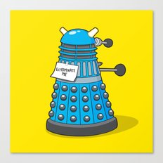 Exterminate Me Variant (Dr Who) Canvas Print