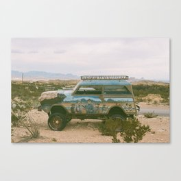 Desert Wheels Canvas Print