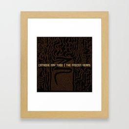 """""""The Frozen Years - Cathode Ray Tube"""" Original Album Artwork Framed Art Print"""