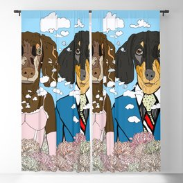 Mr. and Mrs. Dachshund Blackout Curtain