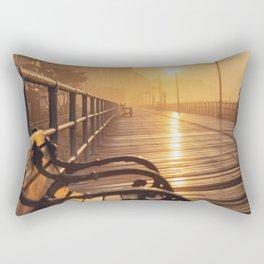 Sunrise on the Boardwalk Rectangular Pillow