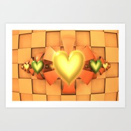 Hearts & Bows Art Print