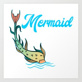 "Unique Mermaid Shirt For Mermaid Lovers Saying ""Mermaid Vibes"" T-shirt Design Wheel Ocean Swim Art Print"