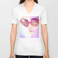 lolita V-neck T-shirts featuring Lolita by Camila Fernandez