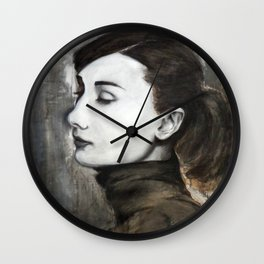 Audrey Hepburn Speed Painting Wall Clock
