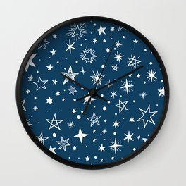 Multiple shapes and sizes stars VII Wall Clock