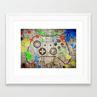 xbox Framed Art Prints featuring Controller Graffiti XBox One by AngoldArts