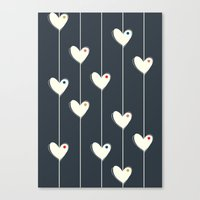 calendars Canvas Prints featuring Heart  by Shabby Studios Design & Illustrations ..