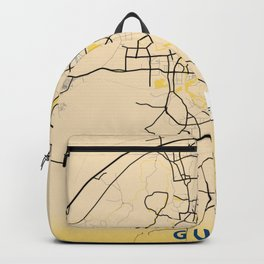 Guilin Yellow City Map Backpack