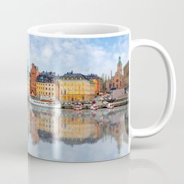 A Panorama of Gamla Stan in Stockholm, Sweden Coffee Mug