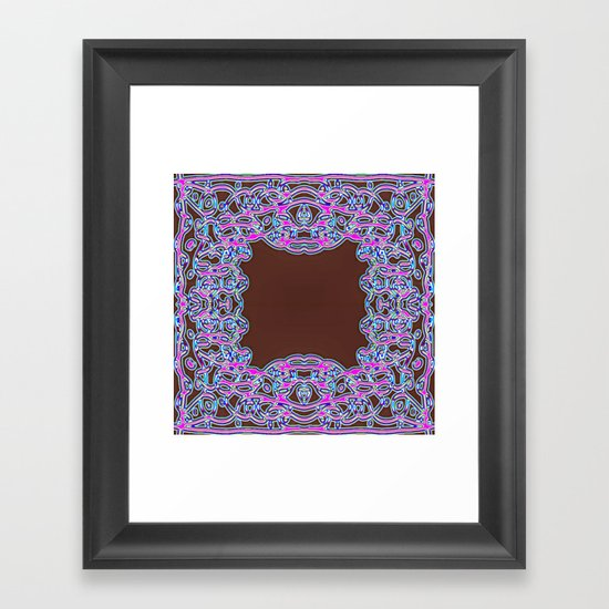 In The Pink Colorfoil Bandanna Framed Art Print