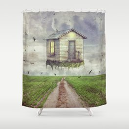 back down to earth Shower Curtain