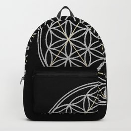 Flower of Life and Star of David Backpack