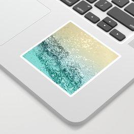 Lemon Twist Beach Glitter #2 #shiny #decor #art #society6 Sticker