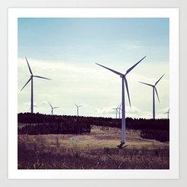 wind power, windmills, modern don quixote Art Print